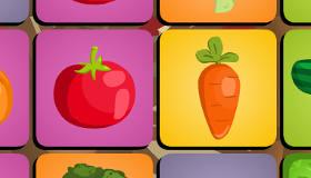 Jeu de mémoire de légumes
