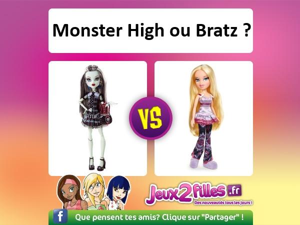 Monster high ou bratz toute l actu fun jeux 2 filles - Toutes les monster high ...