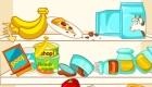 cuisine : Jeu de nettoyage d'un frigo