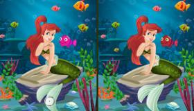stars : Jeu de différences avec La Petite Sirène