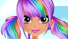 maquillage : Le look arc-en-ciel d'Elisa