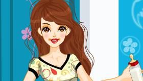 habillage : Une fille baby-sitter