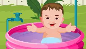 gratuit : Le bain de bébé