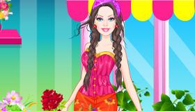 Une tenue à fleurs pour Barbie