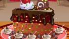 cuisine : Décoration de gâteau au chocolat