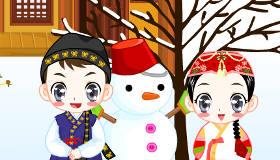 décoration : Il neige en Laponie - 7