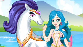habillage : Habiller la princesse et la licorne