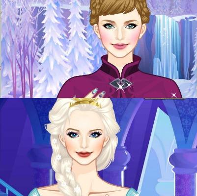 dans ce jeu de bisous tu peux faire vivre lhistoire damour secrte entre jack frost et la reine des neiges fais les sembrasser longuement mais attention