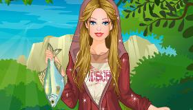 habillage : Barbie à la pêche