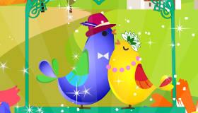 décoration : Des oiseaux amoureux