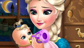 S'occuper du bébé d'Elsa