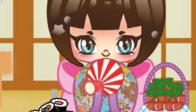 habillage : Poupée Kokeshi