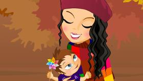 habillage : Une maman et son bébé