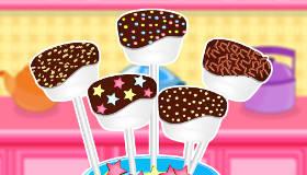 cuisine : Sucette chocolat marshmallow