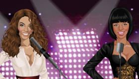 stars : Jeu d'habillage de Rihanna et Beyoncé