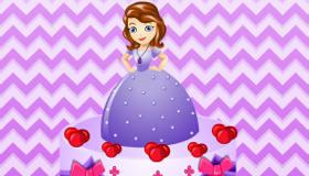 jeux décoration : Sofia décore un gâteau