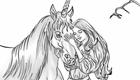 gratuit : Coloriage de Licornes ou chevaux