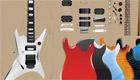 décoration : Une guitare électrique de fille
