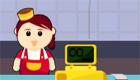 cuisine : Une jeune serveuse