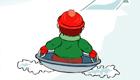 Jeux de fille : Spécial Noël - Slalom en luge