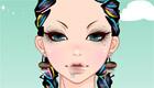 maquillage : Une fille au look rasta