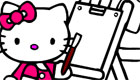 Hello Kitty à colorier .