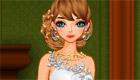 habillage : Une mariée en blanc, argent et or