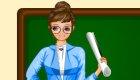 Une fille maîtresse d'école à habiller