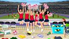 Jeu de rangement avec les cheerleaders