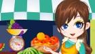 Habille une vendeuse de fruits et légumes