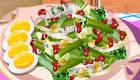 Prépare une salade d'haricots verts