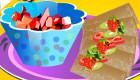 Salade de fruits et frites sucrées