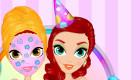 Maquille une fille pour une fête d'anniversaire