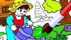Coloriage de jardin