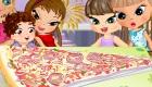 Cuisine une part de pizza
