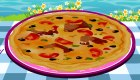 Jeu de pizza au poisson