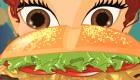 Cuisiner des hamburger de fille