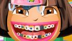 Jeu de dentiste de Dora l'exploratrice