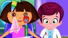 Dora chez le docteur des yeux