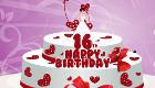 Le gâteau de tes seize ans