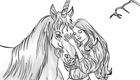 Coloriage de Licornes ou chevaux
