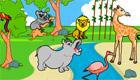 Un décor plein d'animaux