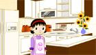 Une fille en cuisine