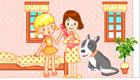Une jolie maison de poupées pour filles