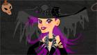 special halloween habille la sorciere