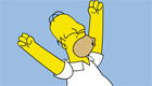 Homer Simpson fait des grimaces