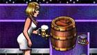 Une fille barmaid en discothèque