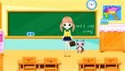 Une fille à l'école