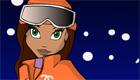 Jeu d'habillage au ski avec les filles