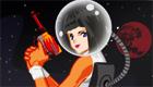 Une fille dans l'espace